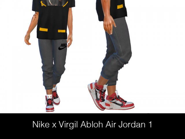 NIKE x VIRGIL ABLOH AIR JORDAN 1 (Male) by HypeSim
