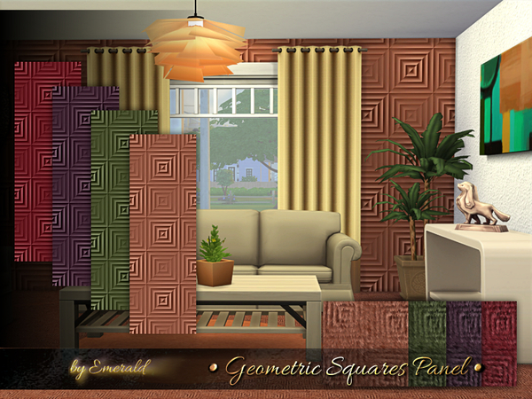 Geometric Squares Panel by emerald