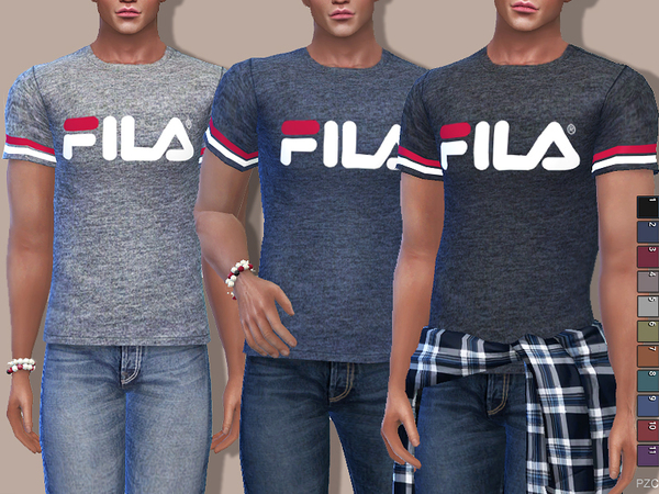 Fila Tees For Him by Pinkzombiecupcakes
