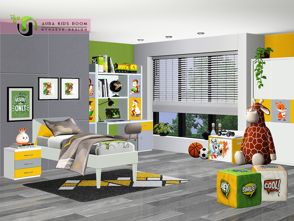 Aura Kids Bedroom by NynaeveDesign