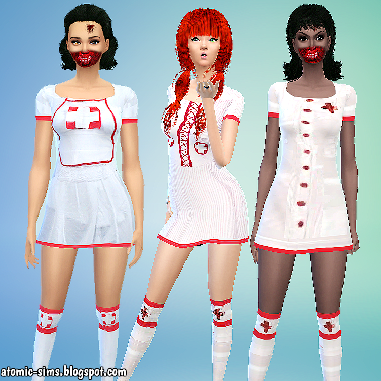 Jeabzilla Nurse set conversion by Atomic-sims