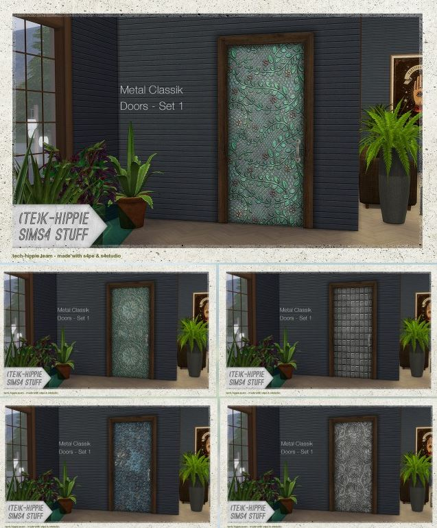14 Metal Classik Door  set 1 by K-Hippie