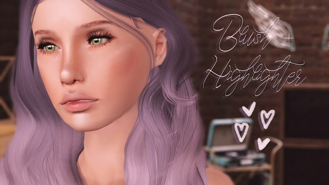 Blush + Highlighter by Halosims