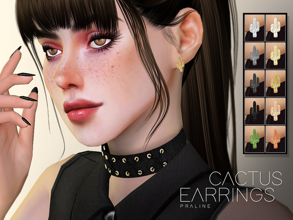 Cactus Earrings by Pralinesims