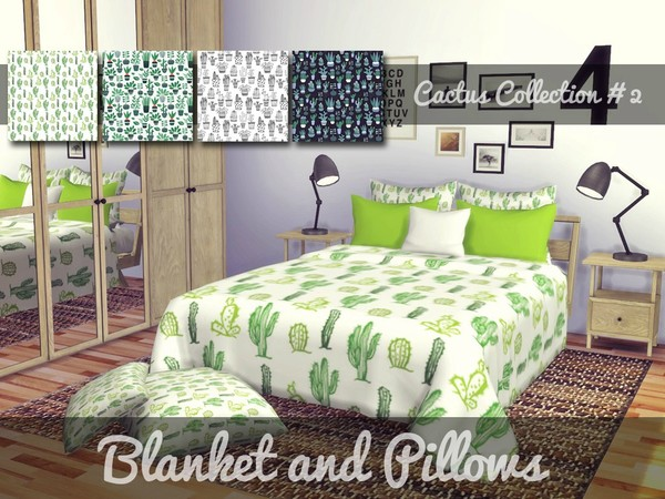 Cactus Blanket and Pillows - Severinka's Santorini Recolor by Sooky