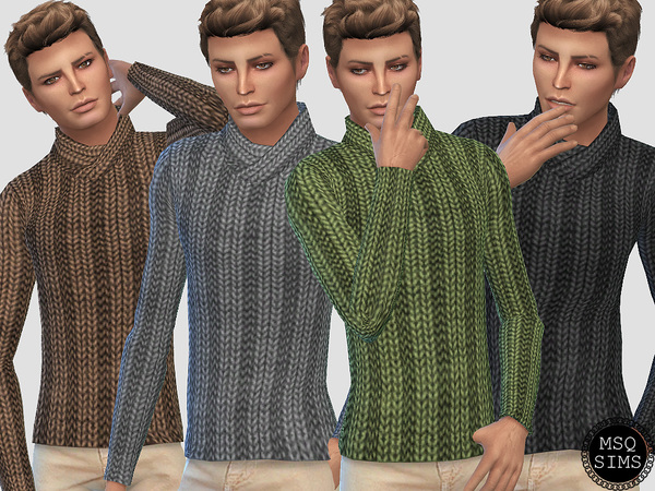Male Knitted Sweater by MSQSIMS
