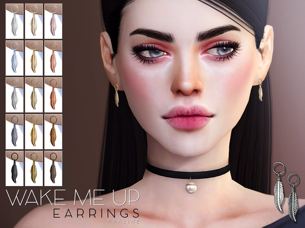 Wake Me Up Earrings by Pralinesims