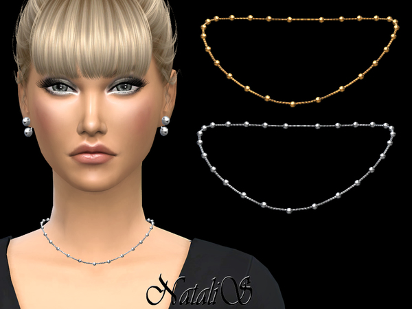NataliS_Multy beads station short necklace