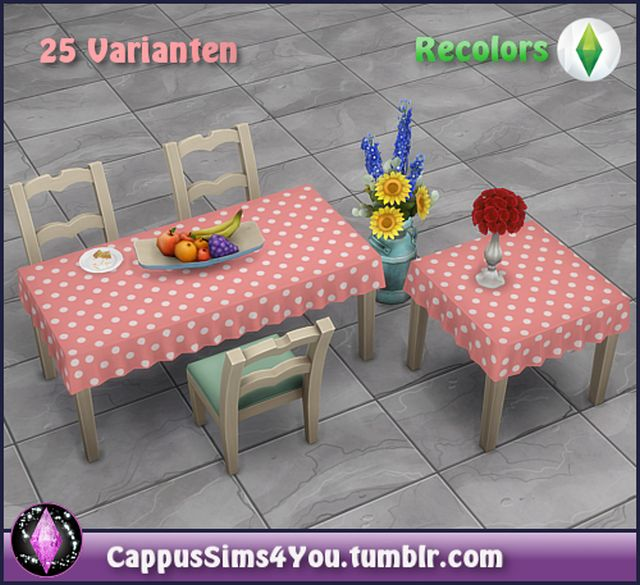 Anna tablecloths set by CappusSims4You