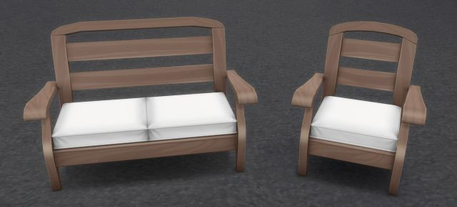 Wooden Lounger Set by brazenlotus
