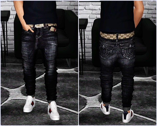 AM Cuffed Jeans by ThePopUpShop