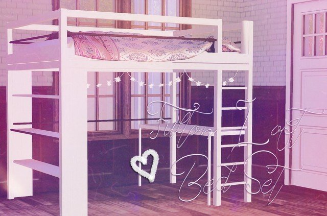 Fulton Loft Bed Set by Halosims
