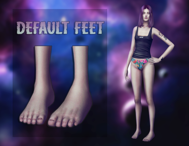 Defaulted feet by magic-bot