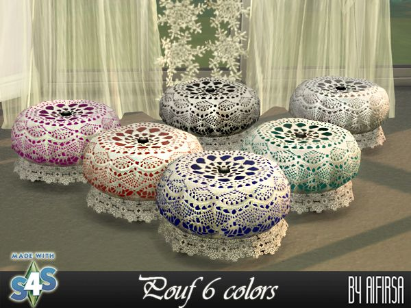 Lace pouf 6 colors by Aifirsa