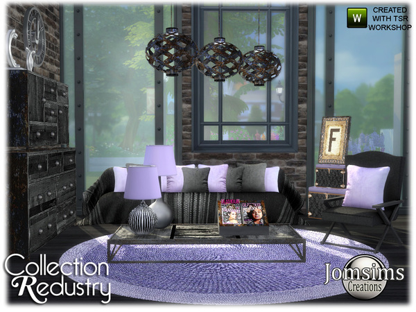redustry living room by jomsims