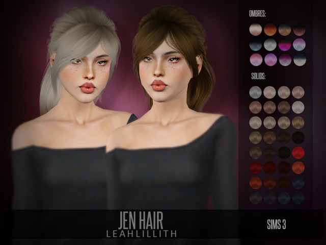 Jen Hair by LeahLillith