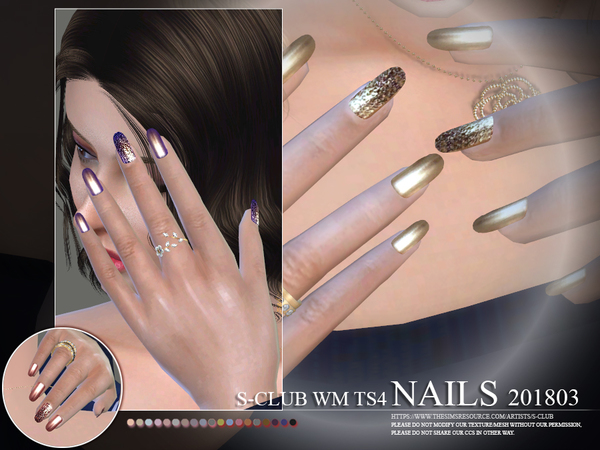S-Club ts4 WM Nails 201803