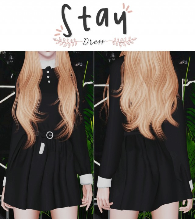 Stay with me dress by Plbsims