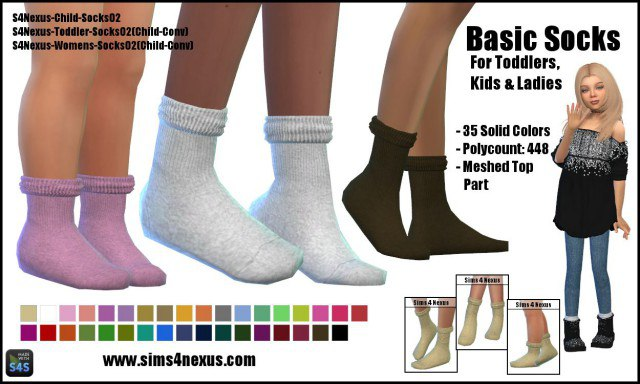 Basic Socks by sims4nexus