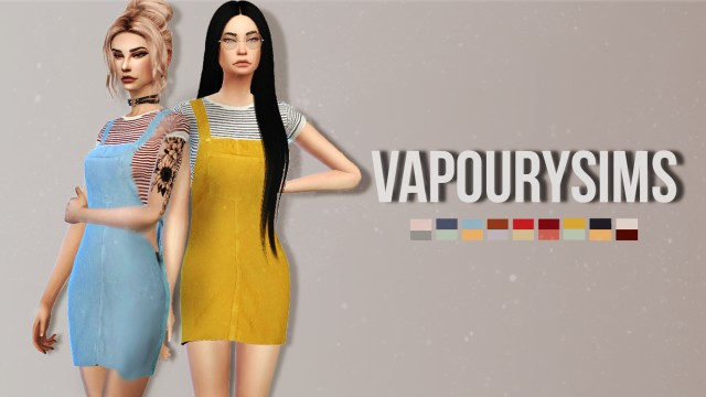Ailie Overall Dress by Vapourysims