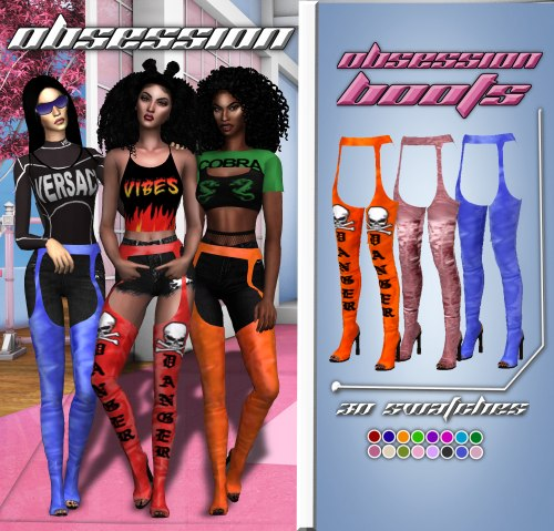 OBSESSION BOOTS by Simstefani