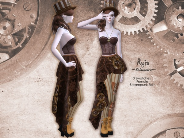 RYIA - Steampunk Skirt - FM by Helsoseira