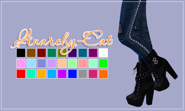 Chunky Studded Leather Boots for Females by Anarchy-Cat
