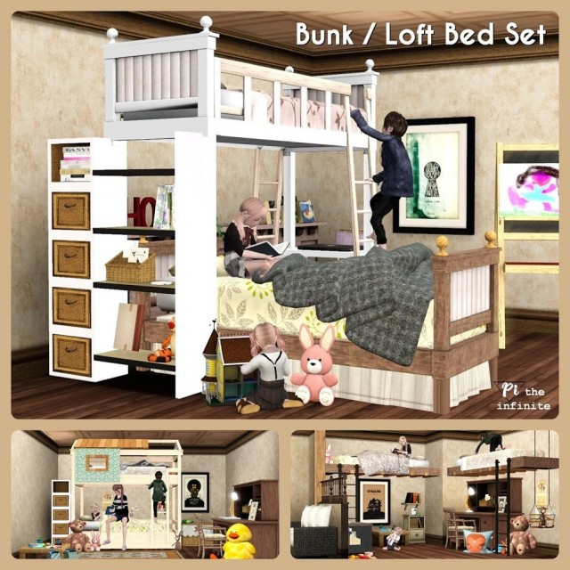 Bunk / Loft Bed Set by Pitheinfinite