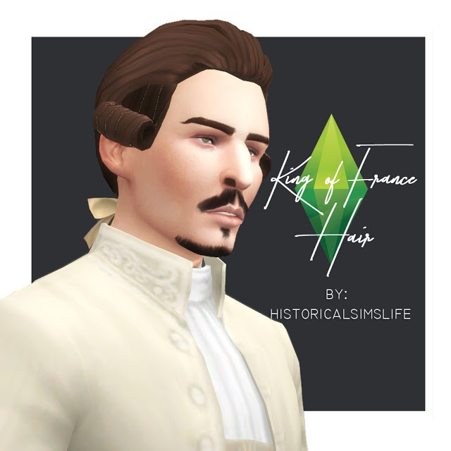 King of France hair conversion by HistoricalSimsLife