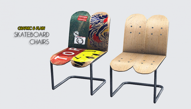 Skateboard Chairs by theothersim