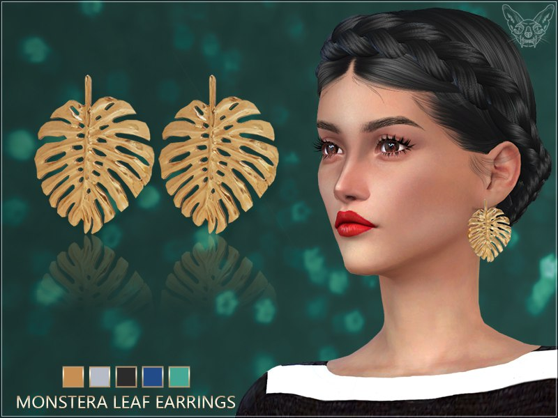 Monstera Leaf Earrings by Giulietta