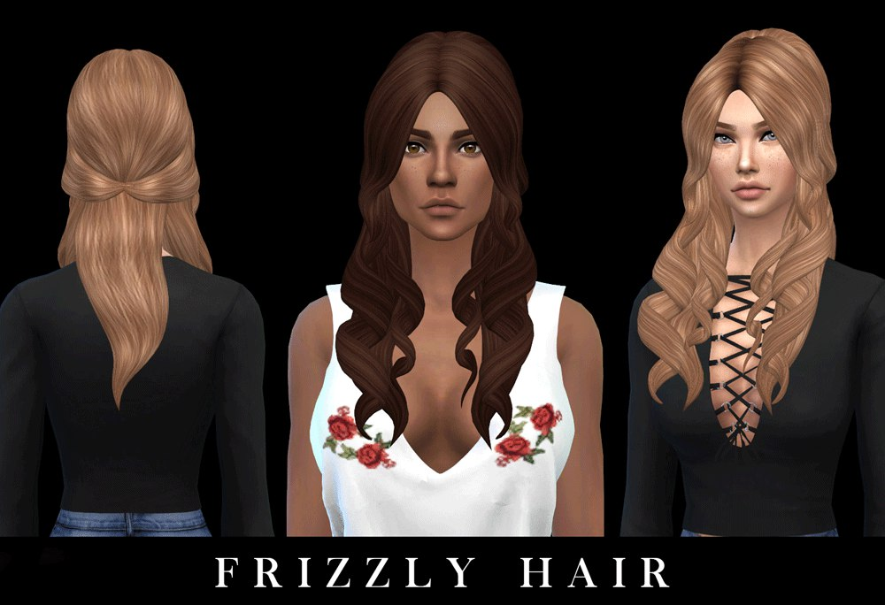 Frizzly hair by Leo-Sims