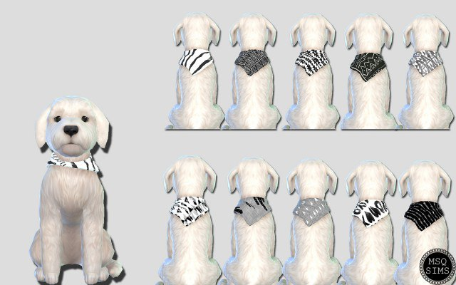 Small Dog Bandanas 01 by MSQSims