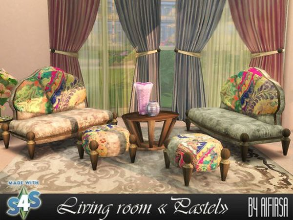 Living room Pastel by Aifirsa