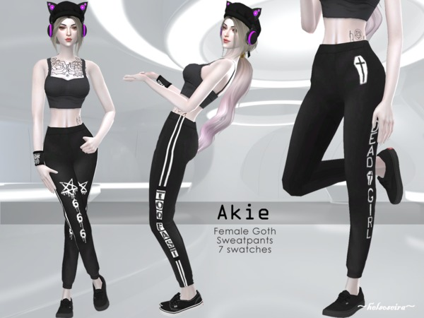 AKIE - Goth Sweatpants by Helsoseira