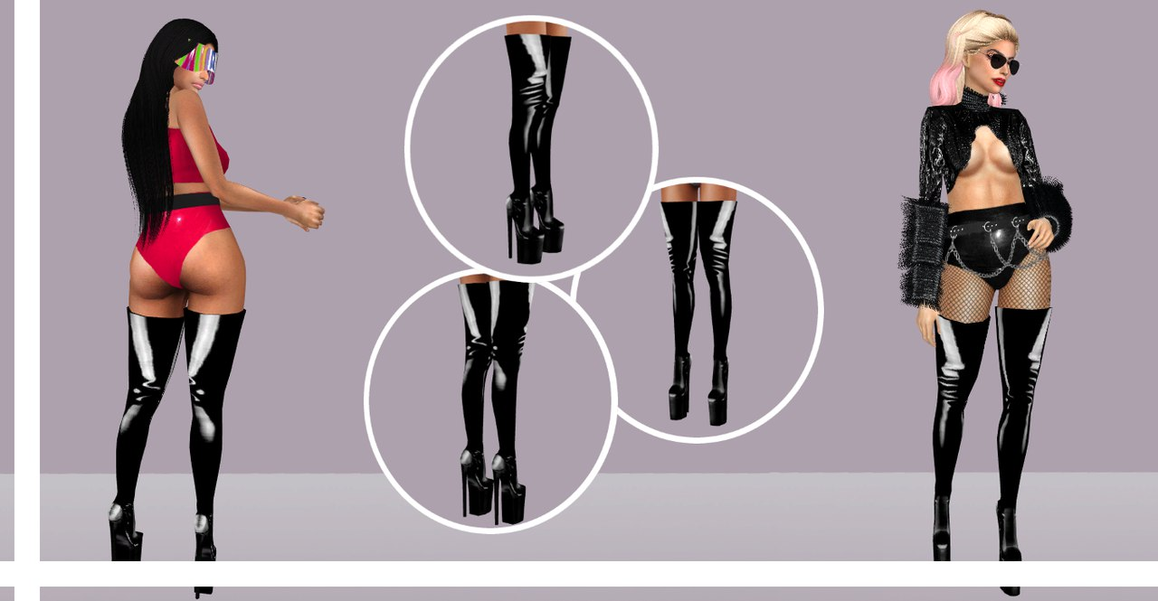 Pleaser Infinity 4000 boots by ZVLAAA