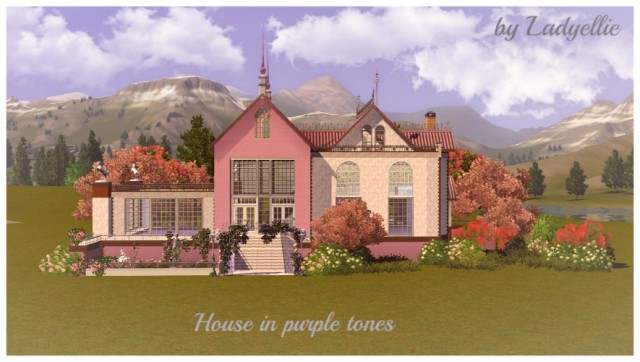 House in purple tones by Ladyellie