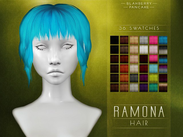 Ramona Hair by Blahberry Pancake