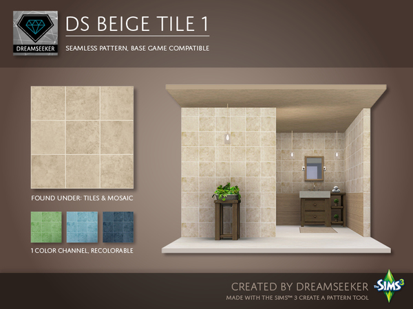 DS Beige Tile 1 by Dreamseeker
