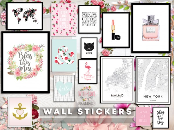 Wall Stickers by Pralinesims