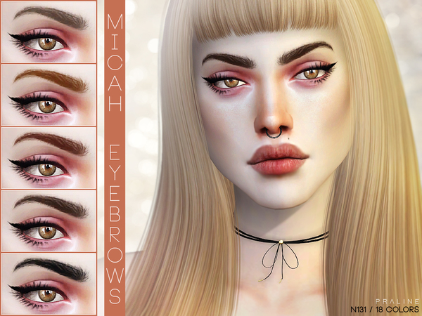 Micah Eyebrows N131 by Pralinesims