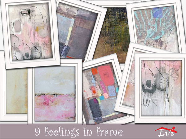 9 feelings in frame by evi
