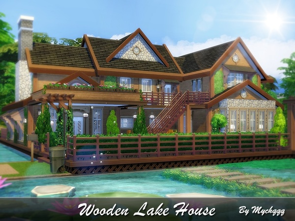 Wooden Lake House by MychQQQ