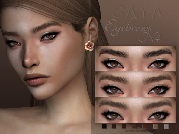 Eyebrows N4 by SayaSims