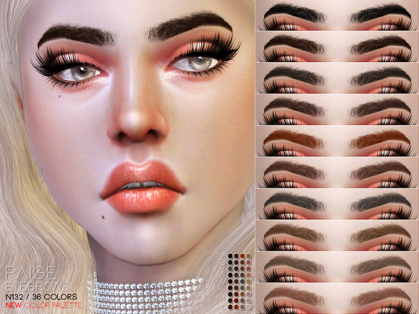 Paige Eyebrows N132 by Pralinesims