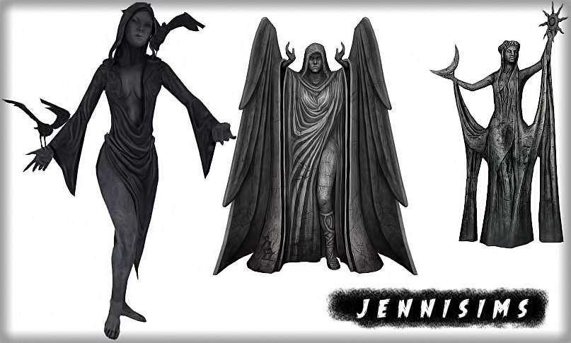 Nocturnal Statues by JenniSims
