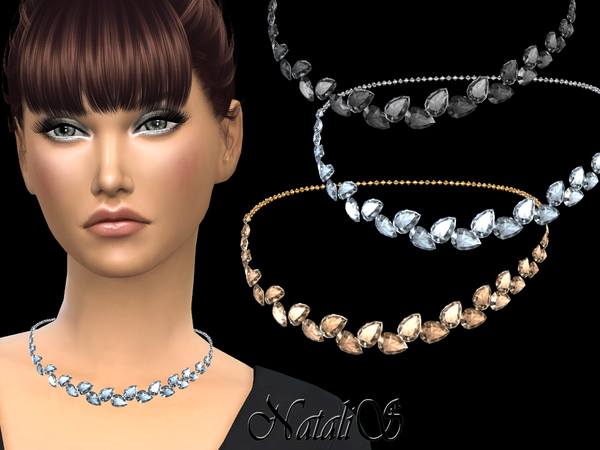 Pear cut crystals necklace by NataliS
