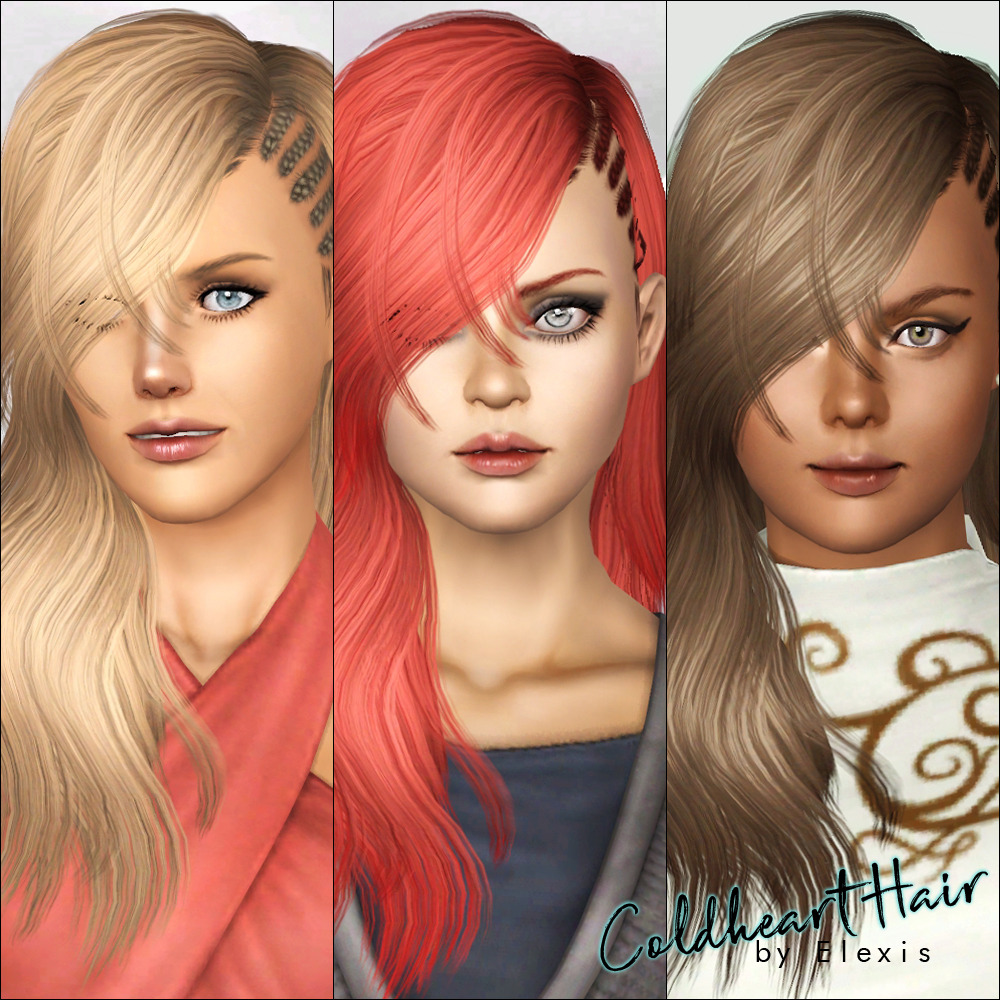 """Coldheart"" - Hairstyle for Females TS3 by Elexis"