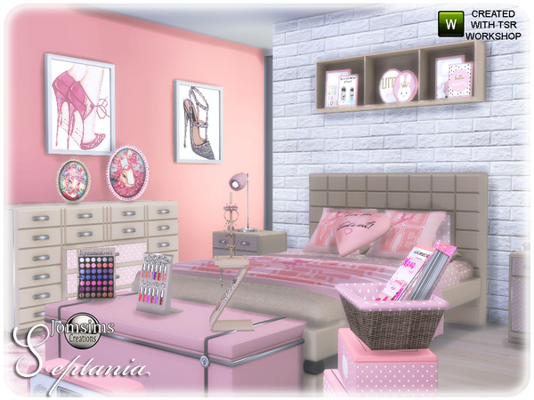 septania bedroom by jomsims
