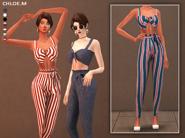 Camisole and Pants with bowknot by ChloeMMM